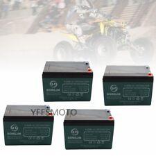 4Pack 12V 12Ah 6-DZM-12 Battery for Electric Vehicles Scooter Go Kart ATV Mower