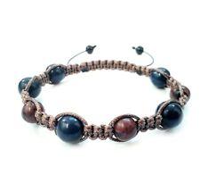 Men shamballa bracelet gift Lapis Obsidian stone wristband cuff jewelry beaded