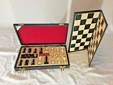 VTG E.S. Lowe N.Y. Exclusive Lowe Creation Magnetic Chess Set w/ case circa 1945