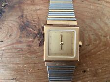 New - Vintage Watch PIERRE CARDIN Reloj - It Works Funciona  Case 2 x 2 cm Nuevo
