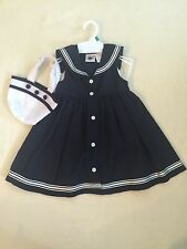 NEW w/o tags - Baby Girls - Dress w/purse - Sz 18m - Nautical - Navy Blue/White