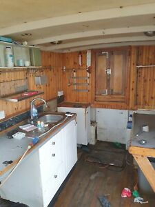 1952 French Trawler REFURB PROJECT 52 x 16 ft timber construction.