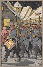 C4965) SVIZZERA FELDPOSTKARTE GRENZBESTZUNG ILL. MOOS. VG NEL 1915 DA ZURIGO.
