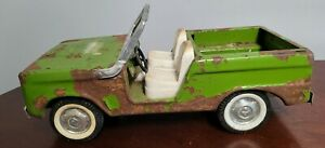 VINTAGE NYLINT 1960'S PRESSED STEEL FORD BRONCO RARE GREEN COLOR