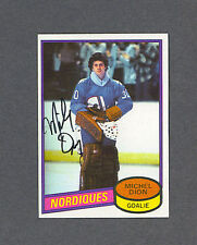 Michel Dion signed Nordiques 1980-81 Topps hockey card