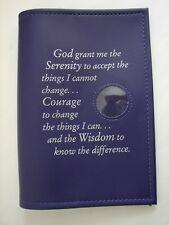 Al Anon Works B-22 Serenity Prayer and Coin Holder Vinyl Purple Book  Cover
