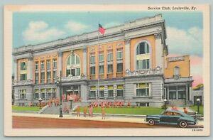 Louisville Kentucky~Service Club~1940s Linen Postcard