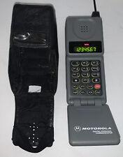 Vintage Cellular One MOTOROLA Digital Personal Communicator Flip Phone w/Case