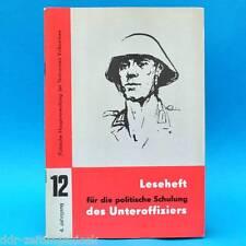Leseheft für die politische Schulung des Unteroffiziers der NVA Nr. 12/1974 DDR