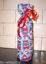Christmas Wine Bottle Bag, Christmas Fabric Bag Novelty Wine Bottle Xmas REDUCED