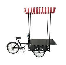 Black Tricyle Vending Cart Ice Cream Wagon Flower Cart Kiosk Farmersmarket Booth