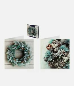 12 pack TOM SMITH LUXURY PREMIUM TRADITIONAL CHRISTMAS CARDS WREATH DESIGN