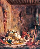 Le corps de garde a Meknes 75cm x 61cm by Eugene Delacroix Canvas Print