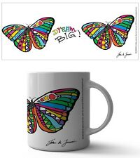 LASCURAIN DREAM BIG BUTTERFLY 11 OZ COFFEE MUG TEA CUP ART INSPO MOTIVATION COOL