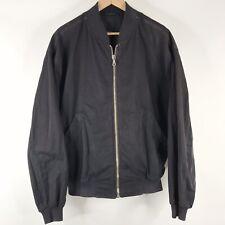 Boss Hugo Boss Jacket Size 52 Mens XL Black Bomber Warhol Cotton Full Zip Coat