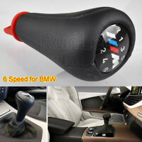 6-Speed Gear Knob Shift Leather M sport for BMW E36 E46 E90 E91 E92 E39 E60 E61