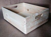 * Pine wood stackable storage box 60x40x14cm DD340 wedding case files books (Z3)