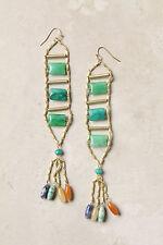 NWT Anthropologie Stone Tassel Earrings