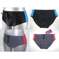 Men Swim Brief Slip Trunks Swimsuit Swimwear Bathing Grey Black S M L XL XXL 3XL