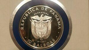 1978 FM Panama 10 Balboas Silver Proof Coin Franklin Mint