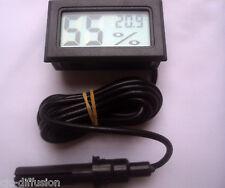 Thermometre hygrometre + CABLE 1m50 + SONDE humidité écran LCD Cave à vin NEUF