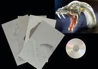 Airbrush Schablone Step by Step / Stencil / Tiere / 0598 Schlange & CD