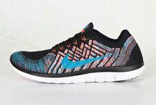 Nike Free 4.0 Flyknit Running Shoes Men's US 11 Black Orange 717075-009 NEW