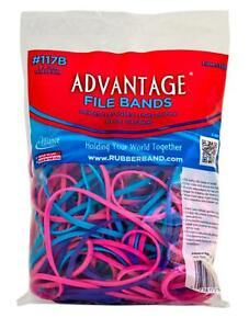 """Rubber Bands Large Size #117b (7 x 1/8"""") Heavy Duty Made in USA 1/4 lb (Colored)"""