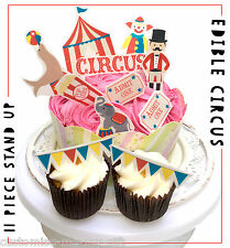 Circus clown funfair Stand up Edible Pop Top Cupcake Toppers | Cake  decorations
