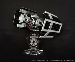 Display stand angled 3D for Lego 8017 Darth Vader's TIE Fighter