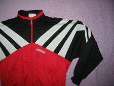 Adidas Track top tracksuit Vintage VTG Stripe Black Red White 80s 90s 168 Medium