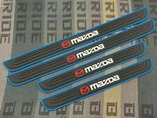 4PCS Black Rubber Car Door Scuff Sill Cover Panel Step Protector For Mazda