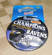 Wincraft NFL Pin Button Baltimore Ravens 2000 Conference Champs Super Bowl XXXV