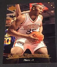 CLARENCE WEARTHERSPOON 1995-96 Upper Deck ERROR Double Name Logo RARE #22 76ers