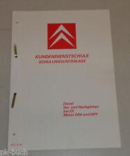 Schulungsunterlage Citroen ZX Diesel Vorglühen Nachglühen Motor D8A / DHY 1992