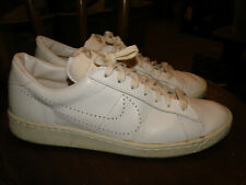 VINTAGE Nike White Leather SHOES  MADE IN TAIWAN  1984 Sz 12 MENS