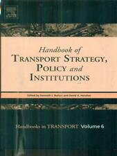 HANDBOOK OF TRANSPORT STRATEGY, POLICY AND INSTITUTIONS