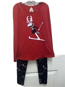 Justice Happy Holidays Skiing Reindeer Outfit 8