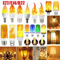 E14 E27 LED Licht Fackel Feuer Lampe Flammen Effekt Birnen Flacker Glühbirne