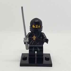 authentic LEGO minifigure Cole Golden Weapons njo006 Ninjago black ninja
