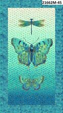 Flights of Fancy Metallic Butterfly 21662M-45 Quilt fabric Northcott Panel 24x44