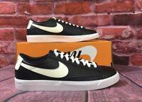 Nike Men Blazer Low LTHR Leather Skateboarding Shoes Black AJ9515-001