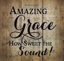 Amazing Grace Old Fashion Hymn Sheet Music Design Wood Pallet Wall Art Plaque