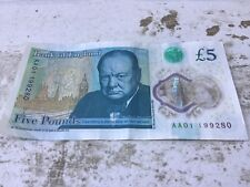 5 pound note  AA01 -  circulated