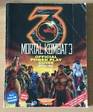 1995 Official Mortal Kombat 3 Official Power Play Guide Walkthrough