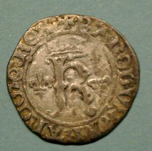 KING CHARLES VIII  1488 KAROLUS ROUEN     ( SILVER ) HISTORIQUE