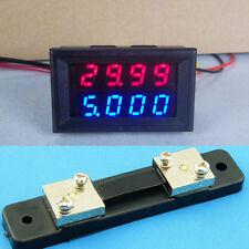 0-100v 50 A Dc Digital Led Voltímetro Amperímetro Amp Voltímetro + 50 a maniobras de 12v 24v