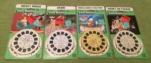 4 Disney View-Master Reels Donald Duck Mickey Disney on Parade Bambi NIB NOS