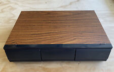 Vintage Faux Wood 36 8-TRACK Tape Cartridge Holder 3 Drawer Storage Case