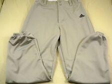 Adidas Athletic Baseball Pants Gray Mens Medium